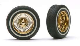 Rims & tires  - gold - 1:18 - Pegasus - hs1403 - pghs1403 | The Diecast Company