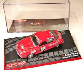 Saab  - 1972 red - 1:43 - Magazine Models - RAsaab96 - MagRAsaab96 | The Diecast Company