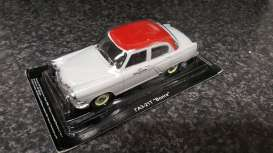 Volga  - M21 Russian Taxi cream/red - 1:43 - Magazine Models - rusTaxi - magrusTaxi | The Diecast Company