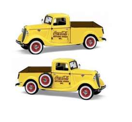Ford  - 1937 yellow/red - 1:24 - Motor City Classics - mocity433213 | The Diecast Company
