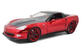 Corvette  - 2009 candy red/black - 1:18 - Jada Toys - 96627r - jada96627r | The Diecast Company
