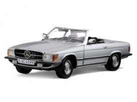 Mercedes Benz  - 1977 silver - 1:18 - SunStar - sun4607 | The Diecast Company