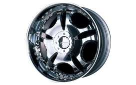 Aoshima - Rims & tires Wheels & tires - abk130455 : 1/24 Lowen Hart LD1 & 19 inch Streched Tire (Chrome Plated),