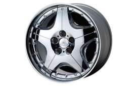 Aoshima - Rims & tires Wheels & tires - abk130462 : 1/24 Supreme & 19 inch Streched Tire (Chrome Plated),