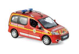 Peugeot  - Partner *Pompiers Secours Medi 2010 red - 1:43 - Norev - 479818 - nor479818 | The Diecast Company