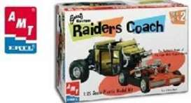 Raiders Coach  - purple-red - 1:25 - AMT - s30261 - amts30261 | The Diecast Company