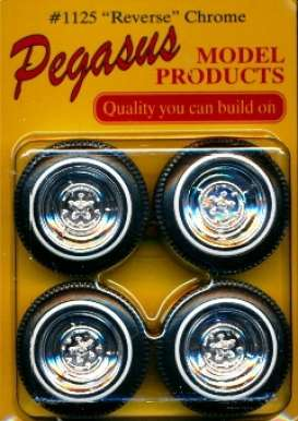 Rims & tires Wheels & tires - chrome - 1:24 - Pegasus - hs1125 - pghs1125 | The Diecast Company