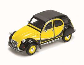 Citroen  - 1982 yellow/black - 1:24 - Welly - welly24009ybk | The Diecast Company