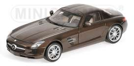 Mercedes Benz  - 2010 brown metallic - 1:18 - Minichamps - 100039028 - mc100039028 | The Diecast Company