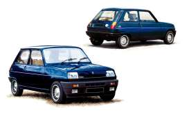 Norev - Renault  - nor185157 : 1981 Renault 5 Alpine Turbo, navy blue