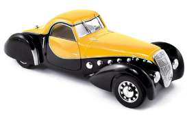 Peugeot  - 1937 black/yellow - 1:43 - Norev - 473205 - nor473205 | The Diecast Company