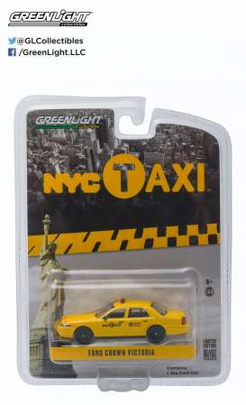 GreenLight - Ford  - gl29773 : 2011 Ford Crown Victoria New York Taxi, yellow