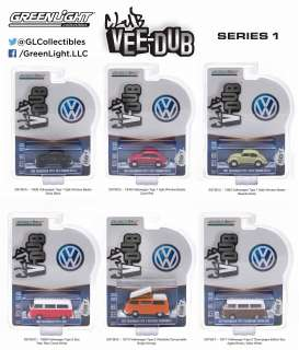 Assortment/ Mix Volkswagen - various - 1:64 - GreenLight - 29790 - gl29790 | The Diecast Company
