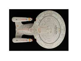 Star Trek  - U.S.S. Enterprice NCC-1701-D grey-brown - Magazine Models - Startrek001 - magStartrek001 | The Diecast Company