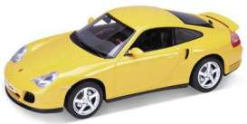 Porsche  - yellow - 1:18 - Welly - 19850y - welly19850y | The Diecast Company