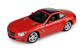 Welly - Mercedes  - Welly43662H : 1/34-1/39 2012 Mercedes Benz SL500 hard top, red
