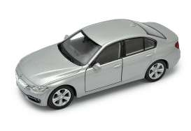 BMW  - 335i silver - 1:34 - Welly - 43659s - welly43659s | The Diecast Company