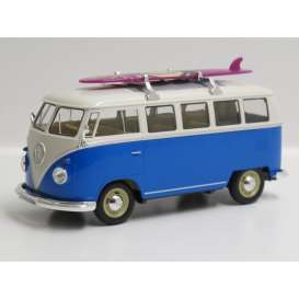 Volkswagen  - 1962 blue/white - 1:24 - Welly - welly22095SBb | The Diecast Company