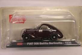 Fiat  - 1936 burgundy - 1:43 - Magazine Models - MM508 - magMM508 | The Diecast Company