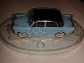 Fiat  - 1100 blue with black roof. - 1:43 - Magazine Models - BPfi1100 - magBPfi1100 | The Diecast Company