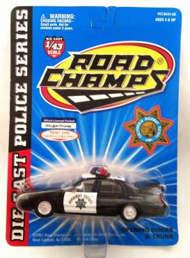 Ford  - 1998 black/white - 1:43 - Road Champs - road643105 | The Diecast Company