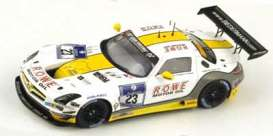 Mercedes Benz  - 2014 white/yellow - 1:43 - Spark - sg145 - spasg145 | The Diecast Company