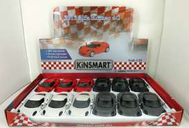 Kinsmart - Alfa Romeo  - KT5366~12 : 2013 Alfa Romeo 4C, assortment tray with 12pcs with 3 each of the following colours; red. white, black & grey.