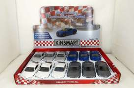Kinsmart - Bentley  - KT5369~12 : 2012 Bentley Continental GT Speed, assortment tray with 12pcs with 3 each of the folowing colours; white, silver, blue & grey.