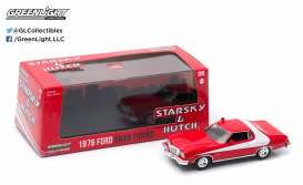 Ford  - Gran Torino *Starsky & Hutch* 1976 red/white - 1:43 - GreenLight - 86442 - gl86442 | The Diecast Company