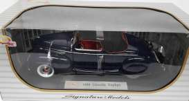 Lincoln  - 1939 dark blue - 1:18 - Signature Models - sig18102db | The Diecast Company