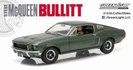 Ford  - Mustang GT *Bullitt* 1968 highland green - 1:18 - GreenLight - 12938 - gl12938 | The Diecast Company
