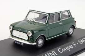 Mini  - Cooper S 1967 green/white - 1:43 - Magazine Models - RBAMini - magRBAMini | The Diecast Company
