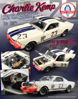 Shelby  - 1965 white/blue/red - 1:18 - Acme Diecast - acme1801812 | The Diecast Company