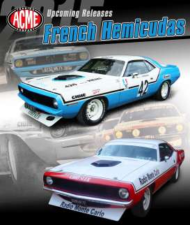 Plymouth  - Cuda #42 1970 blue/white - 1:18 - Acme Diecast - Acme1806102 | The Diecast Company
