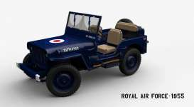 Welly - Jeep Willys - welly18036RAF : 1955 Jeep Willys *Royal Air Force*, blue