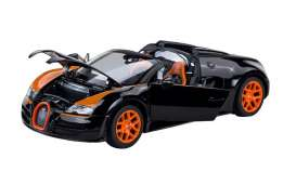 Bugatti  - 2014 black/orange - 1:18 - Rastar - rastar43900bk | The Diecast Company