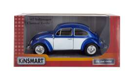 Volkswagen  - 1967 blue/white - 1:24 - Kinsmart - 7002WC - KT7002WCbw | The Diecast Company