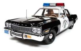 Dodge  - 1975 black/white - 1:18 - Auto World - SS112 - AWSS112 | The Diecast Company