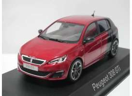 Peugeot  - 2015 red/black - 1:43 - Norev - 473824 - nor473824 | The Diecast Company