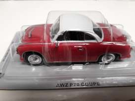 AWZ  - P70 coupe red/white - 1:43 - Magazine Models - pcAWZp70 - magpcAWZp70 | The Diecast Company