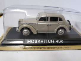 Moskvitch  - beige - 1:43 - Magazine Models - lcMos400 - maglcMos400 | The Diecast Company