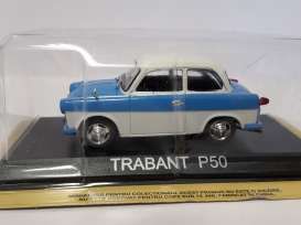 Trabant  - P50 blue/white - 1:43 - Magazine Models - lcTrabP50 - maglcTrabP50 | The Diecast Company