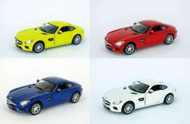 Kinsmart - Mercedes  - KT5388D~12 : 2014 Mercedes AMG GT, Assortment tray of 12 with 4 colours in the tray.