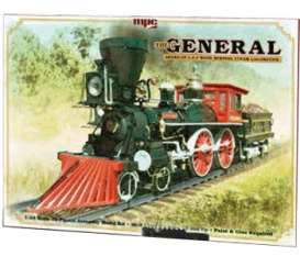 MPC -   - mpc818 : THE GENERAL AMERICAN 4-4-0 WOOD BURNING STEAM LOCOMOTIVE, plastic modelkit