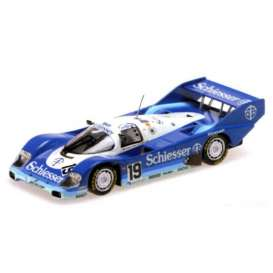 Porsche  - 1985 blue/white/light blue - 1:18 - Minichamps - 155856619 - mc155856619 | The Diecast Company