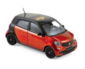 Smart  - 2015 black/red - 1:43 - Norev - nor351425 | The Diecast Company
