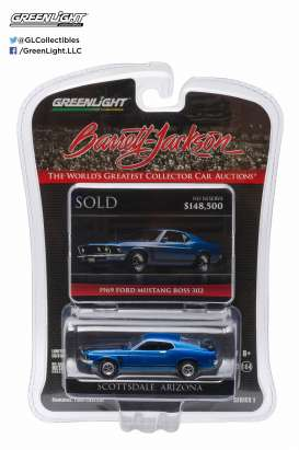 Ford  - 1969 acapulco blue - 1:64 - GreenLight - 27830C - gl27830C | The Diecast Company