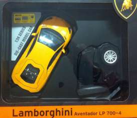 Lamborghini  - Aventador 2013 yellow - 1:24 - MZ Model - MZ25070Ay | The Diecast Company