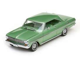 Chevrolet  - 1962 laurel green - 1:18 - SunStar - 3968 - sun3968 | The Diecast Company