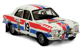 Ford  - Escort RS 1600 MKI 1972 white/red/blue - 1:18 - Triple9 Collection - 1800131 - T9-1800131 | The Diecast Company